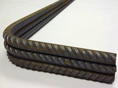 Concrete reinforcement, cut and bent